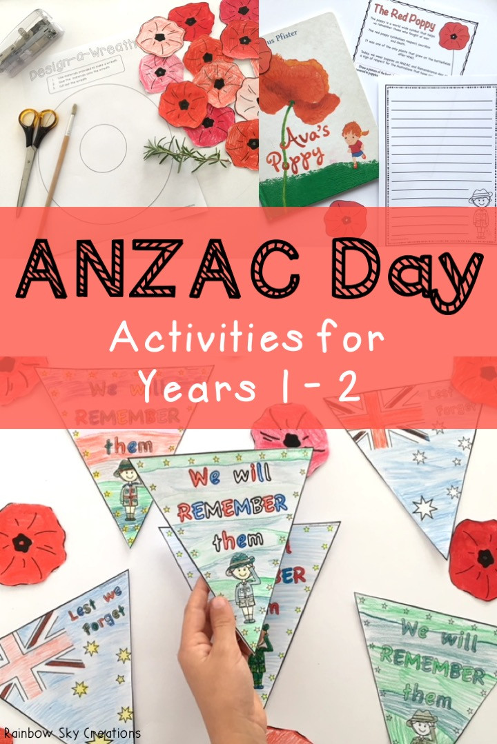 ANZAC Day Activities for Year 1-2