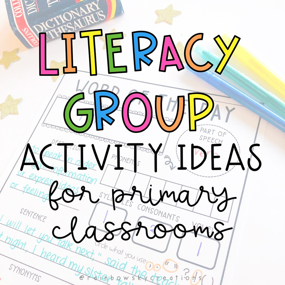 Literacy group activity ideas for Grades 3-6 - Daily Five for Primary students