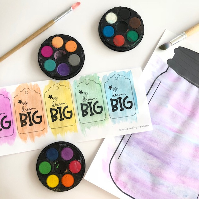 BFG Dream Jars Rainbow Sky Creations