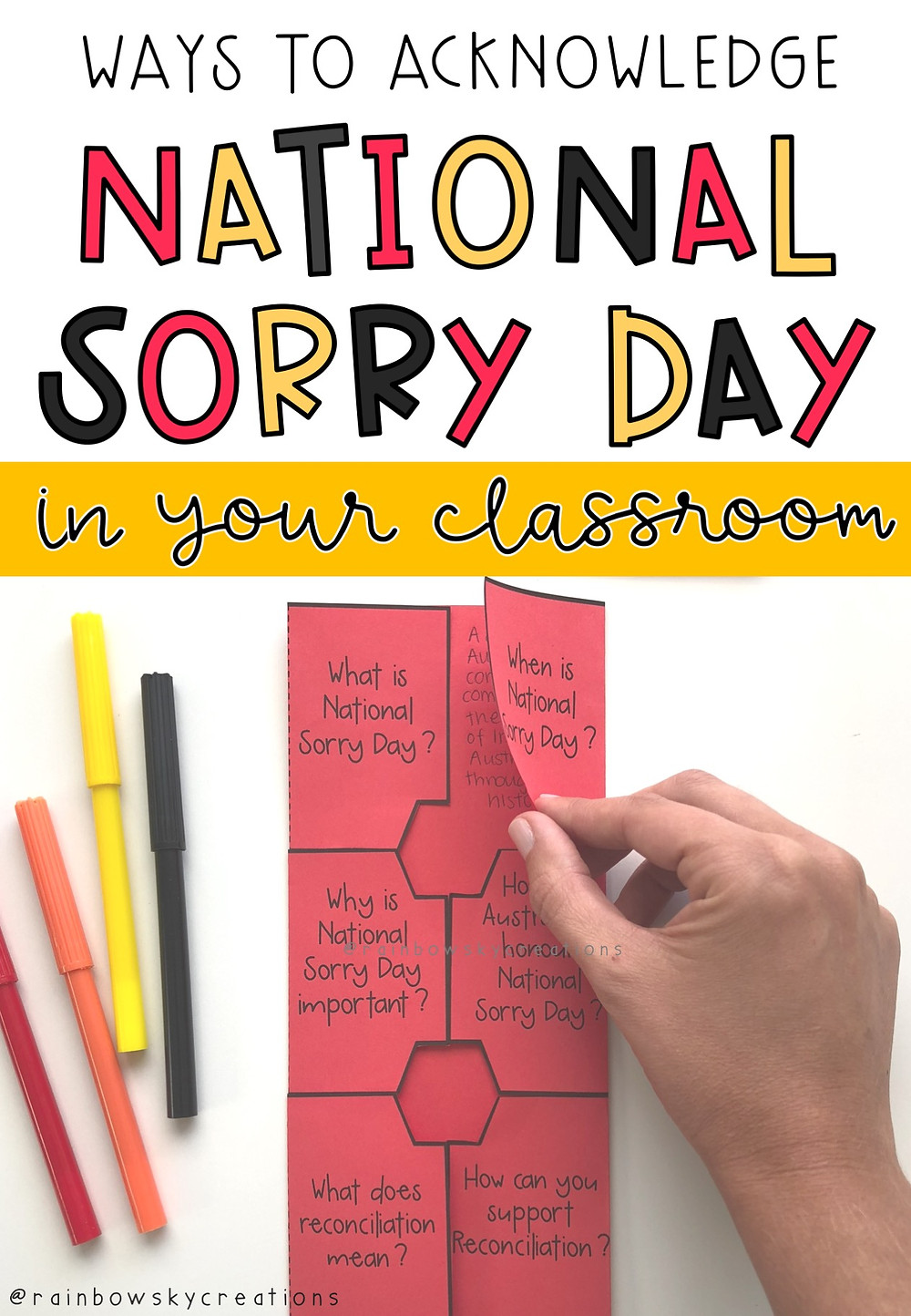 Ways-to-acknowledge-national-sorry-day-in-the-classroom letters and interactive worksheet photo
