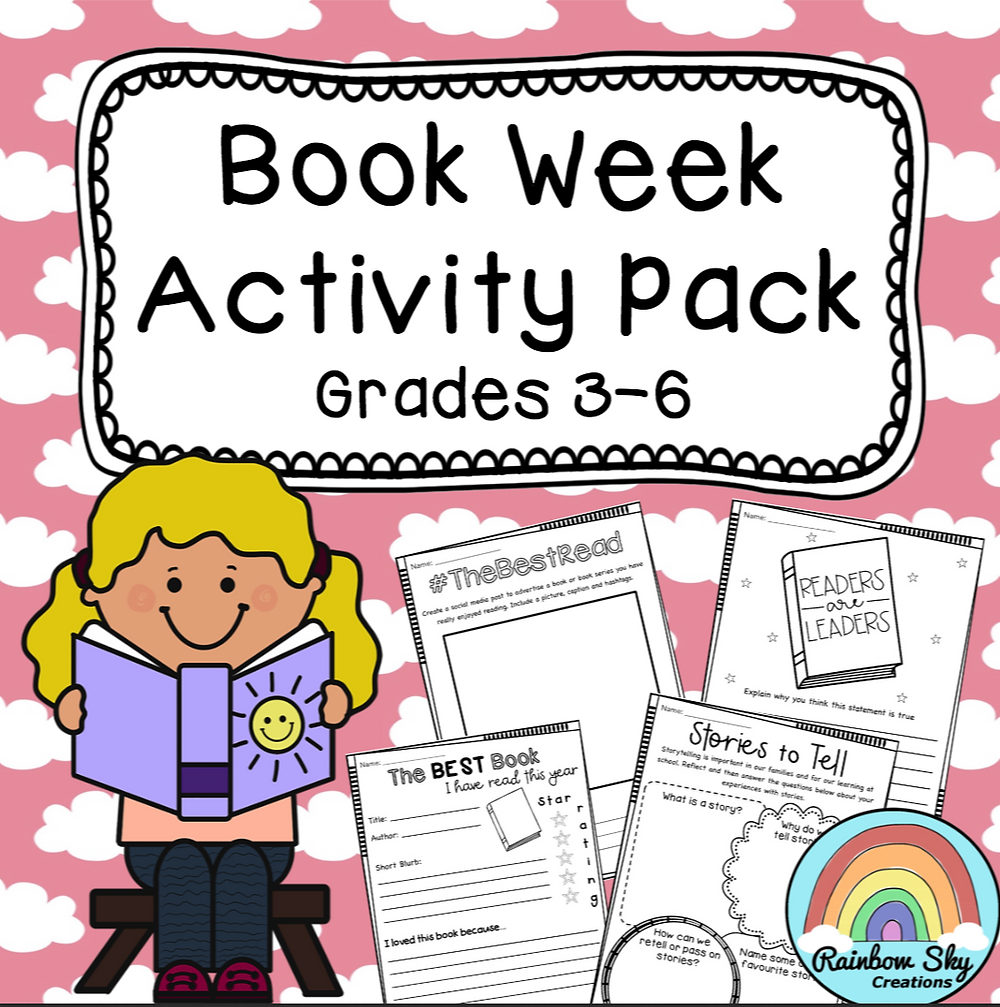 Print and go activities to celebrate Book Week and a love of reading.