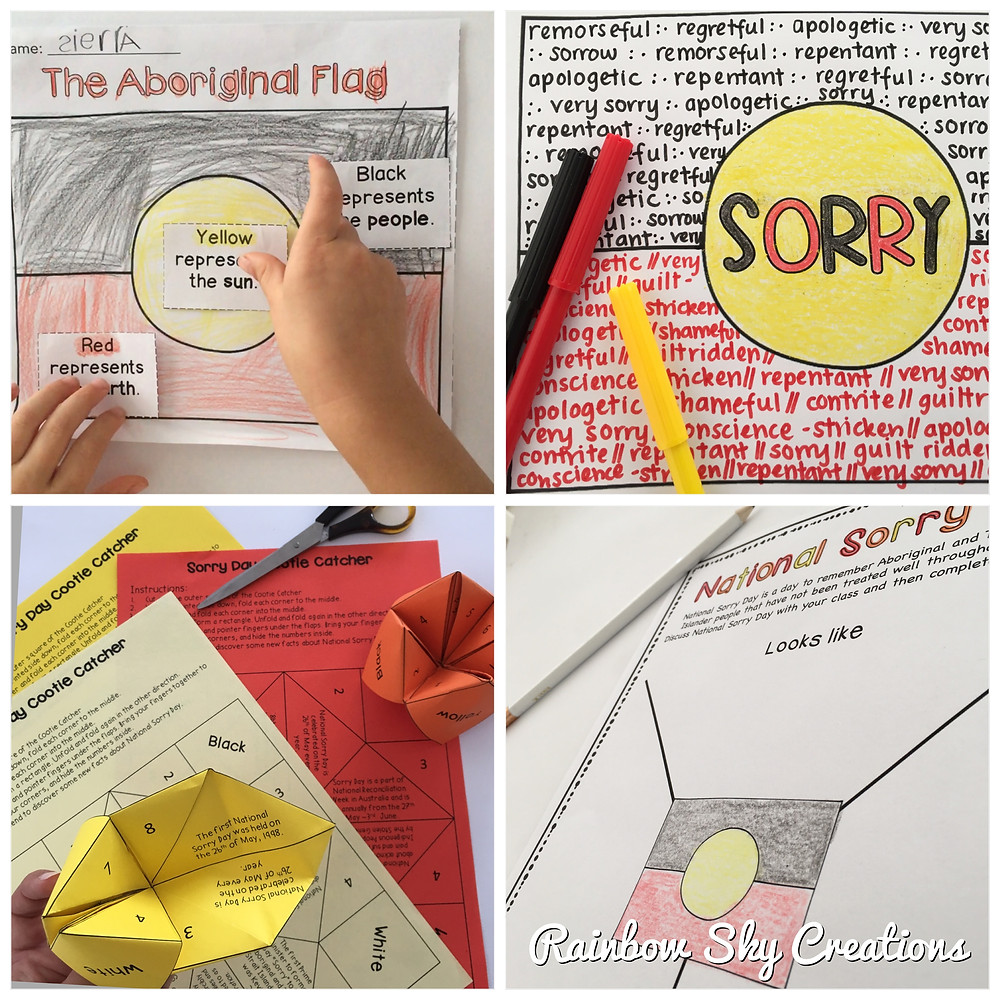 4 Sorry Day activities for Kindergarten, Year 1-2, Year 3-4 and Year 5-6