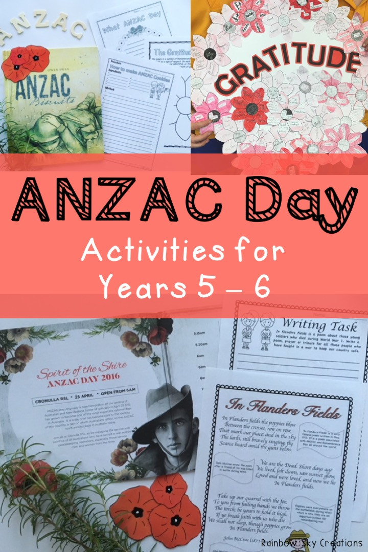ANZAC Day Activities for Years 5-6