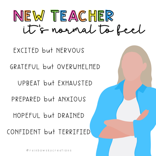 New-teacher-it-is-normal-to-feel infographic