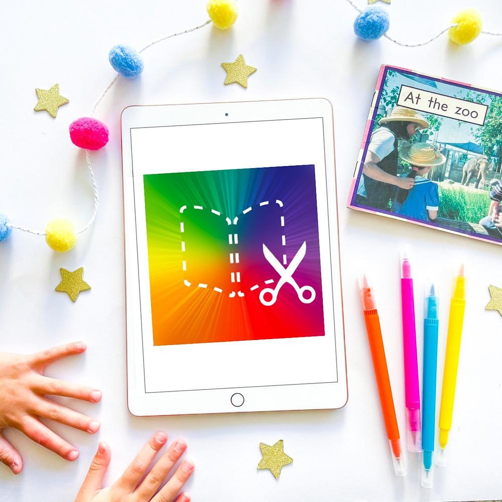 iPad with Book creator app on it