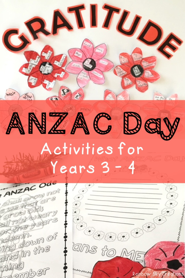 ANZAC Day Activities for Years 3-4
