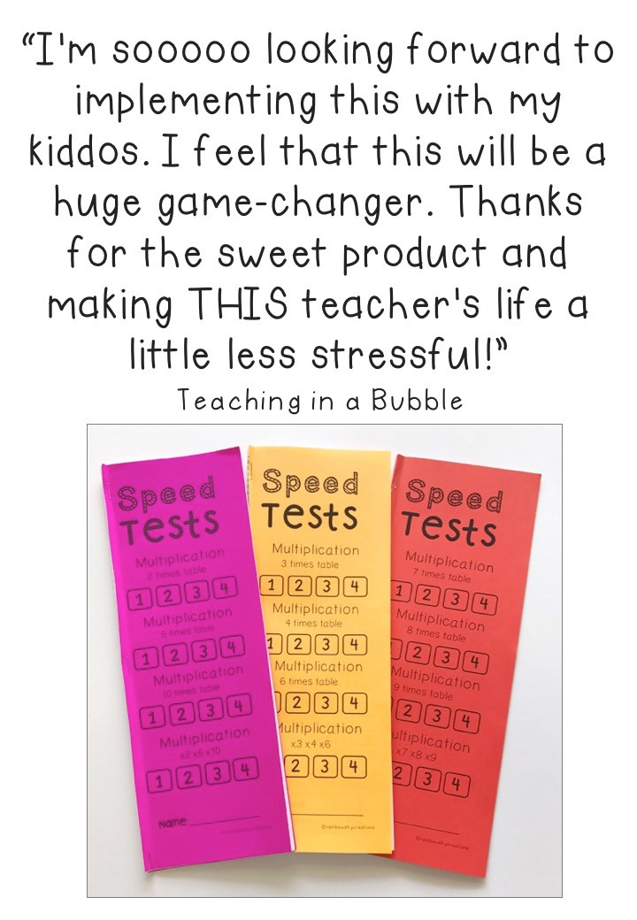 Speed-test-booklets