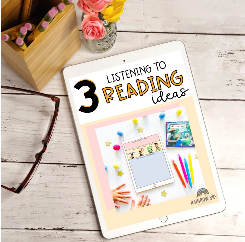 iPad with Free Listening to Reading Ideas for teachers