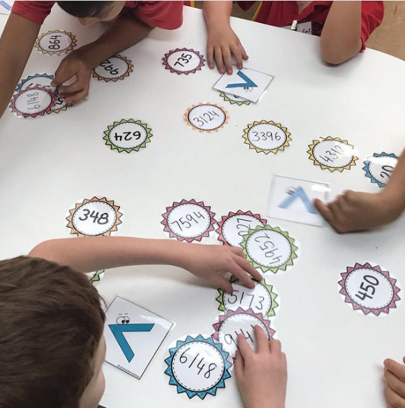 Greater than, less than and equal to hands-on activity