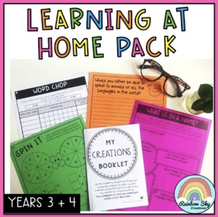 At home learning resource Years 3-4