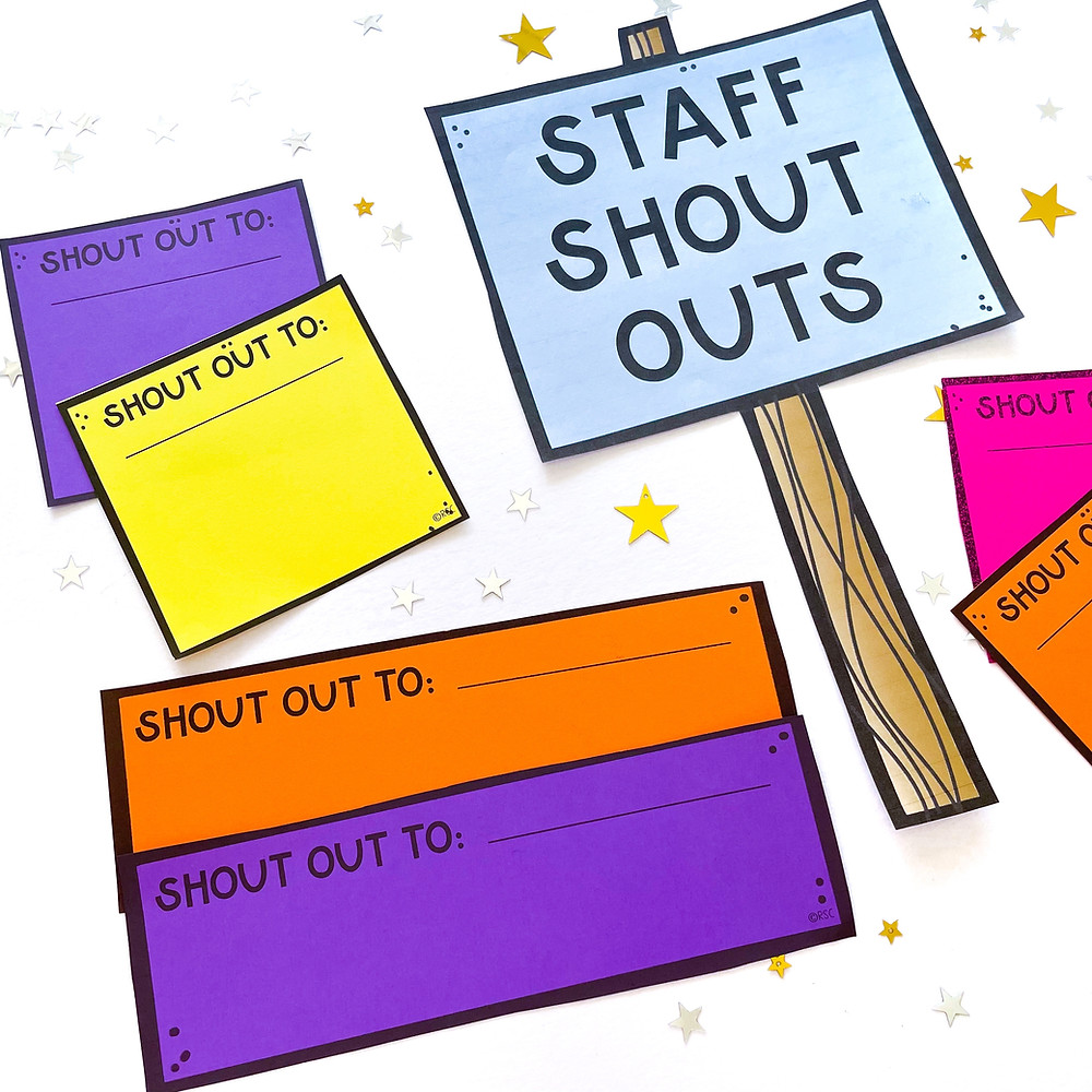 Staff shout out template