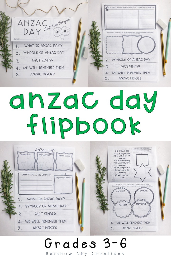 ANZAC Day Flipbook activity