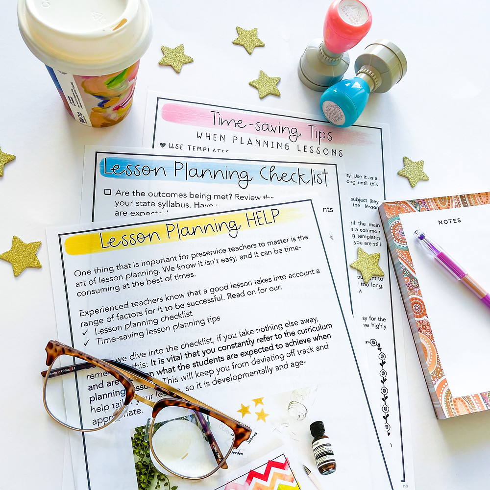 Lesson planning help for preservice teacher templates