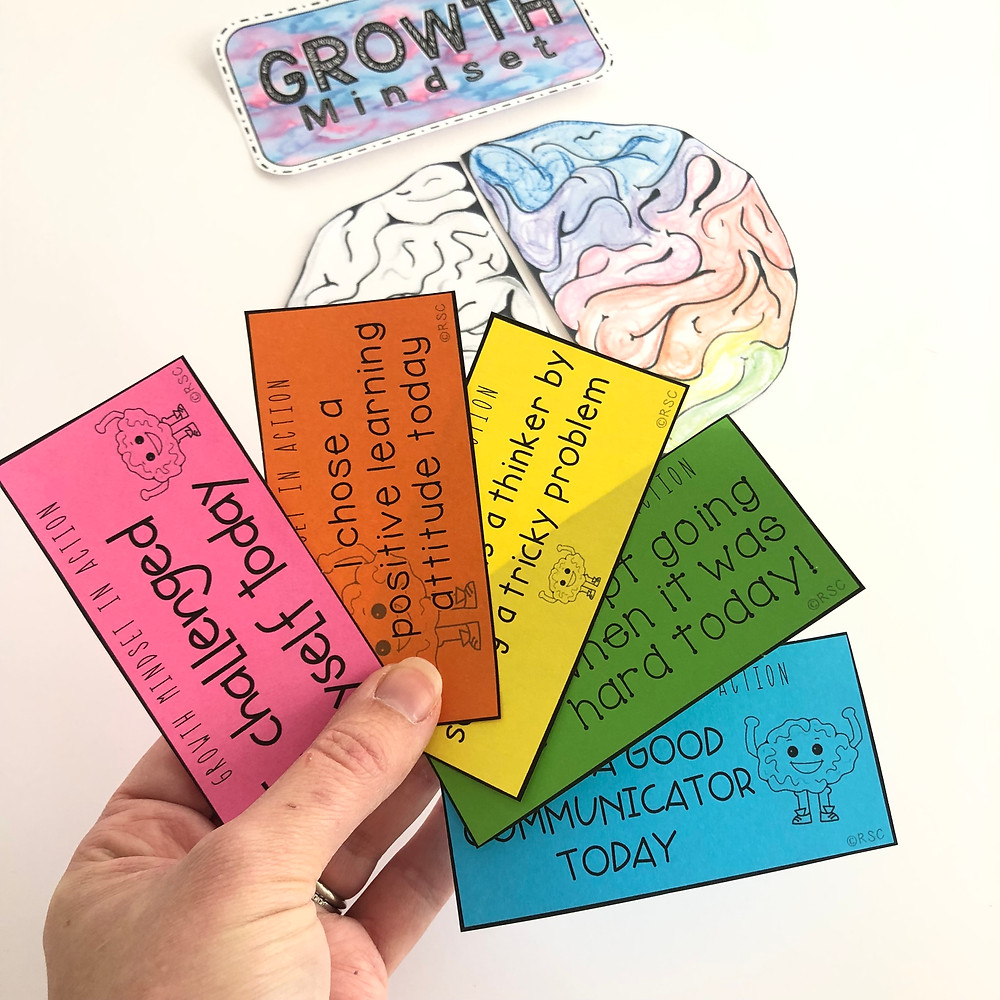 Acknowledge when your students are showing grit and using a Growth Mindset in their learning.