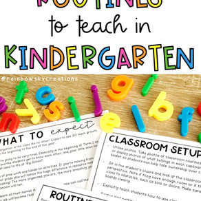 Our List of Essential Routines to Teach in Kindergarten