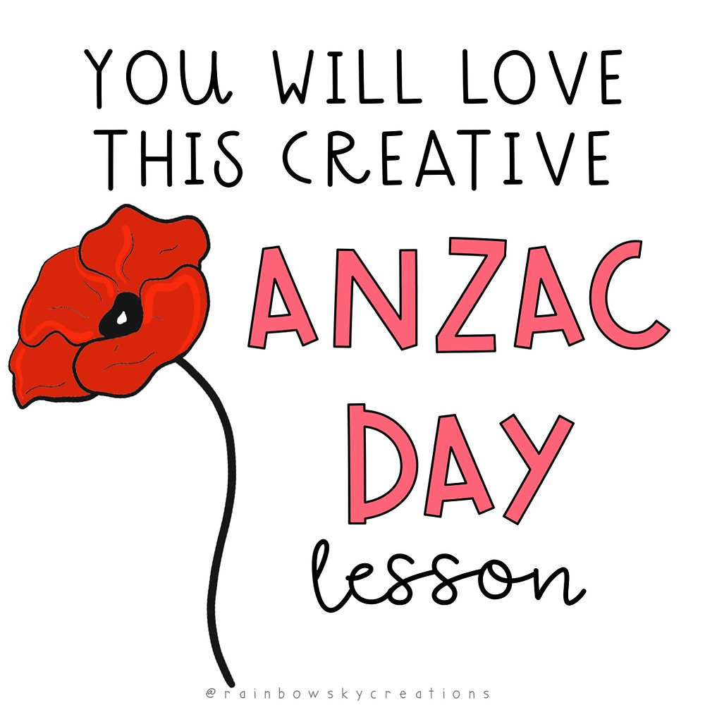 You will love this creative anzac day lesson words with poppy