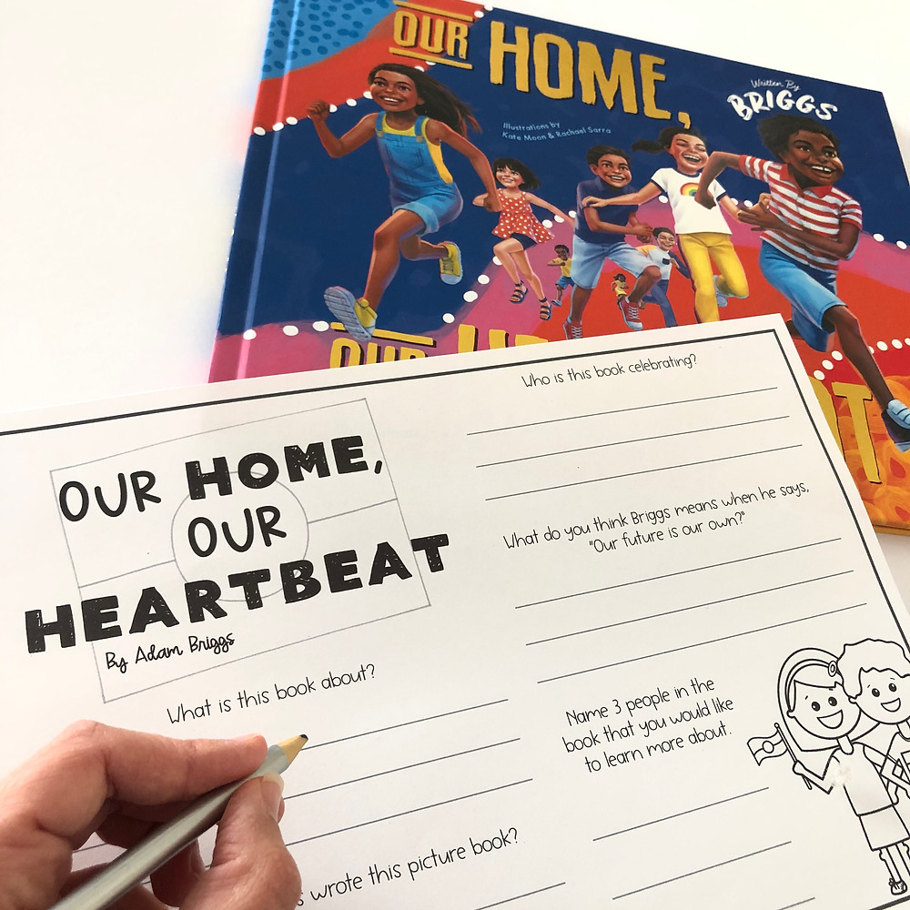 Our Home, Our Heartbeat book and matching task