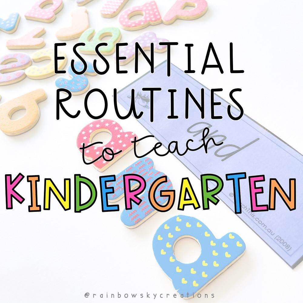 essential routines to teach kindergarten title