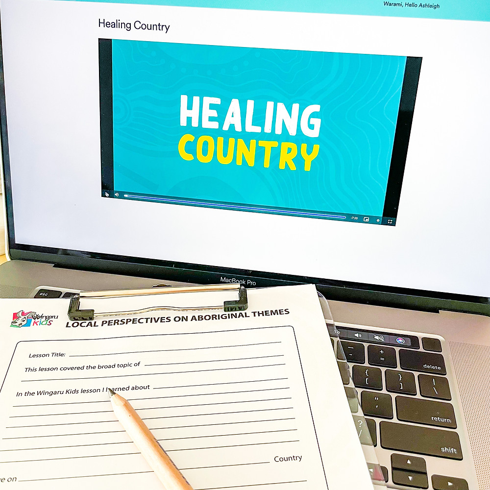 Healing Country lesson with video and student template