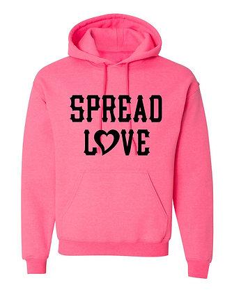 Spread Love Pink Hoodie