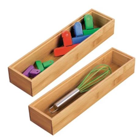 Bamboo Drawer Organizer 3x12x2