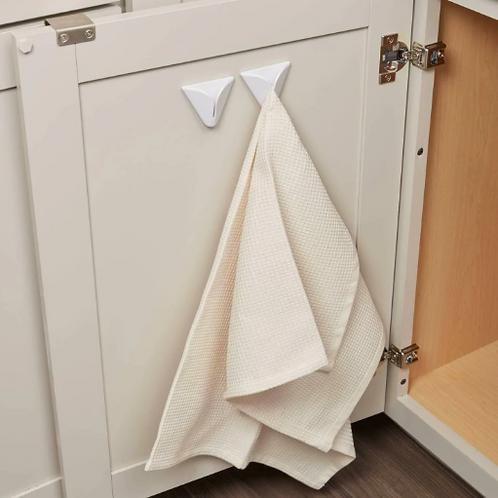 White Adhesive Towel Grabber