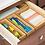 Thumbnail: Bamboo Drawer Organizer 3x12x2