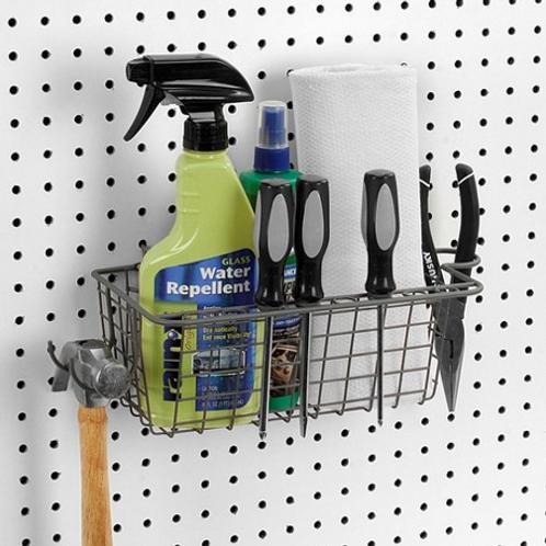 Pegboard Basket & Tool Holder