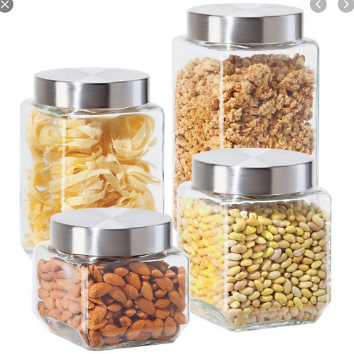 Glass Canister Set (4 PC)