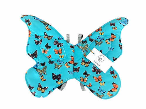 Teal butterfly wings