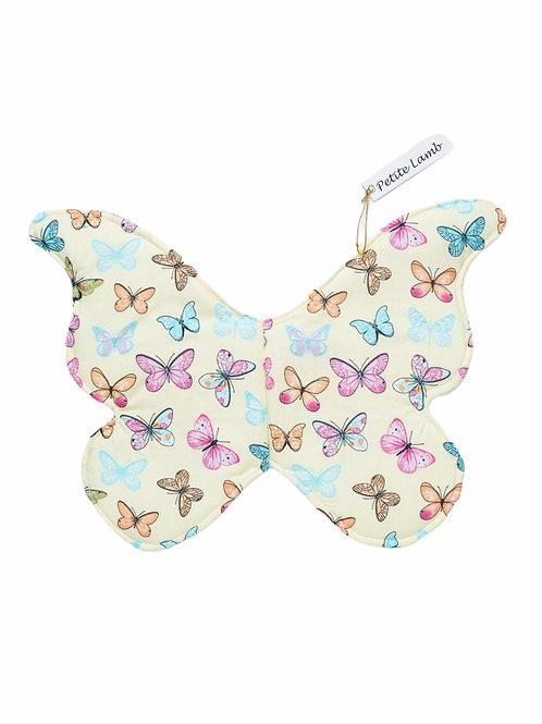 Yellow butterfly wings
