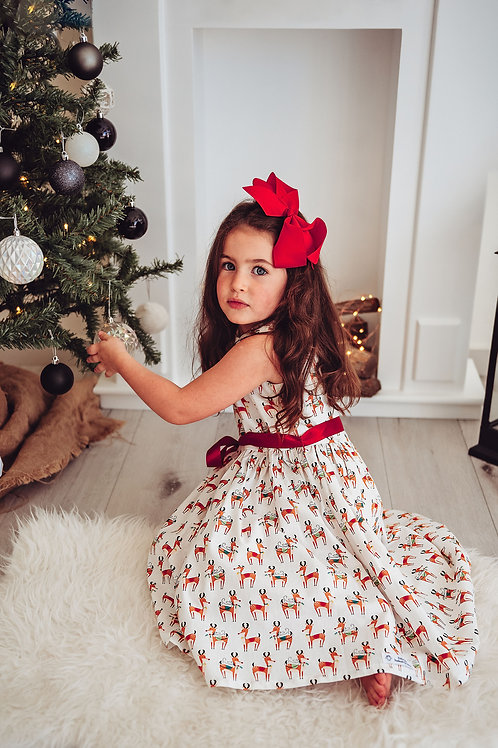 Reindeer print dress