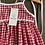 Thumbnail: Red gingham daisy dress