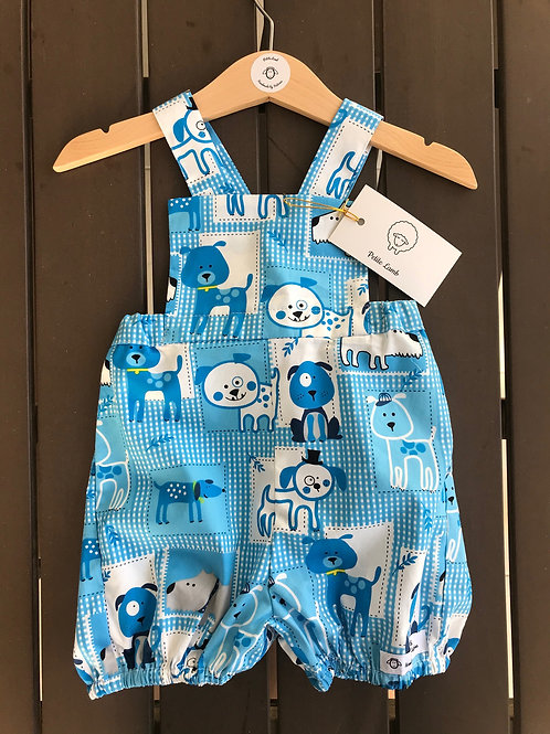 Blue doggy romper