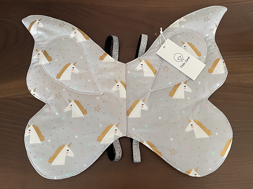 Unicorn print butterfly wings