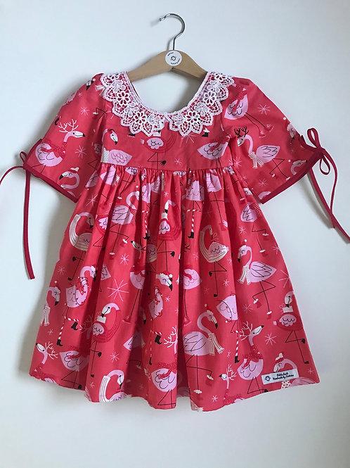 Festive flamingo dress