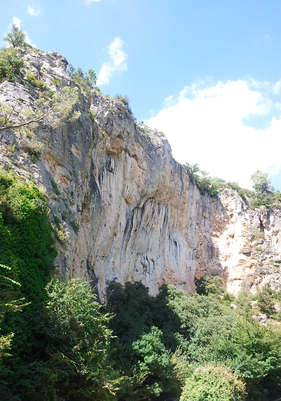 Escalade Vallon Sourn/Chateauvert, climbing,klettern