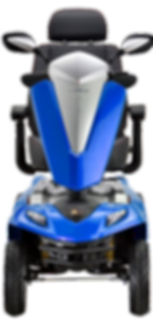 Kymco Maxer Large Mobility Scooter in Saphire Blue Front View