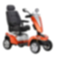 Kymco Maxer Large Mobility Scooter in Flame Orange
