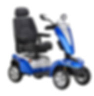 Kymco Maxer Large Mobility Scooter in Saphire Blue