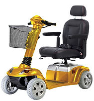 Super 8 in Gold with fully adjustable captain seat