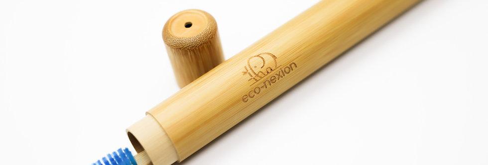 Kit Estuche + Cepillo de Dientes de Bambú Biodegradable