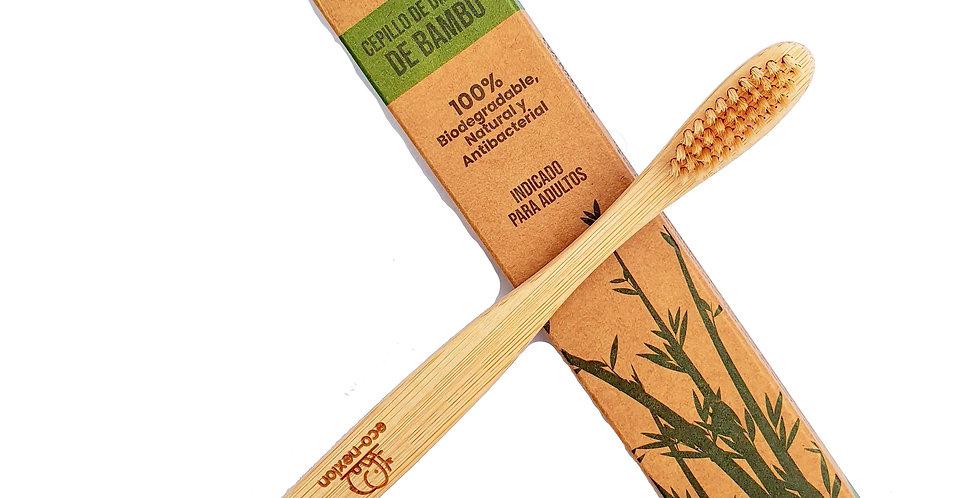 Cepillo de Dientes de Bambú Biodegradable Adulto