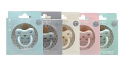 Hevea colour pacifiers