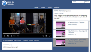 Screen Shot of Video On Demand with Interviewer and Interviewees sitting in studio