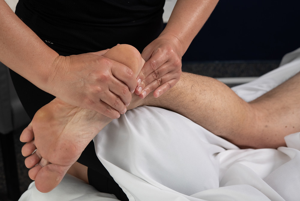 Massage Pin and Stretch Technique performed to Achilles Heel and Foot