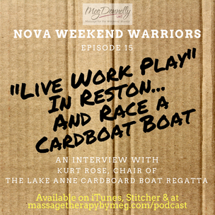 """E15 - """"Live Work Play"""" in Reston...AND Race a CardBoard Boat w/ Kurt Rose, Chair of the 2n"""
