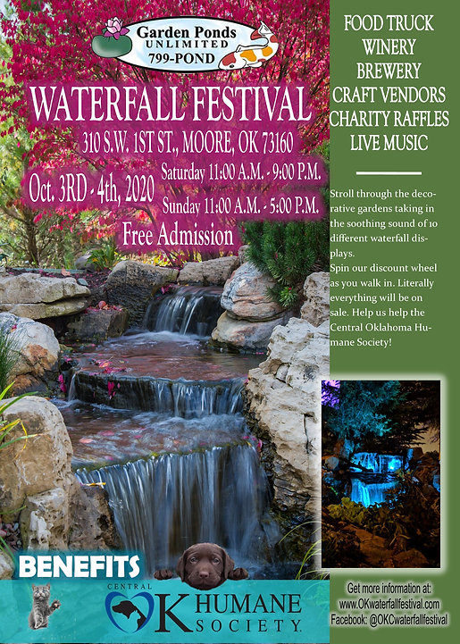 Waterfall Festival 2020 postcard 5 x 7 F