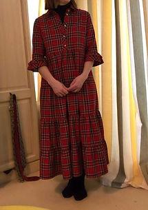 tartan dress, dressmake maidenhead berkshire, bespoke clothing