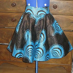 african wax print skirt, dressmaker maidenhead berkshire